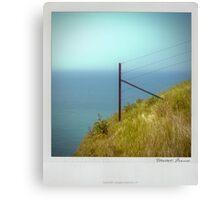 Cliff Polaroïd Canvas Print