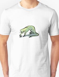 Grey Cat and Mouse - Larger T-Shirt