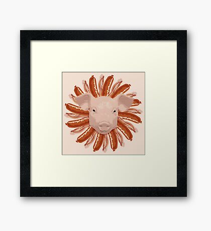 Pork Chop Framed Print