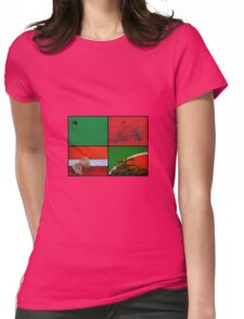 Urban Nature Collage Womens Fitted T-Shirt