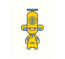 Capsule Toyz - Yellow Ninja Art Print