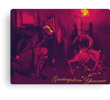 Bloodborne Yharnam Postcard Canvas Print