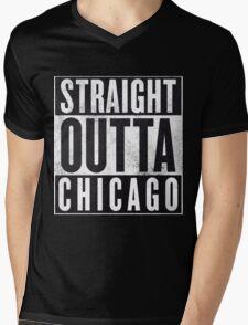 Straight Outta Chicago Mens V-Neck T-Shirt