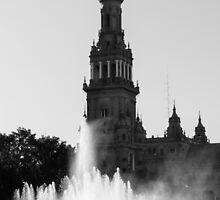 Seville - Plaza de España  by Andrea Mazzocchetti