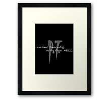 I can hear them (dark background) Framed Print