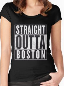 Straight Outta Boston Women's Fitted Scoop T-Shirt