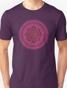 Yin Yang Mandala in Tropical Sunset Unisex T-Shirt