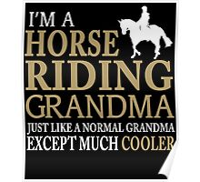 I'M A HORSE RIDING GRANDMA JUST LIKE A NORMAL GRANDMA EXCEPT MUCH COOLER Poster