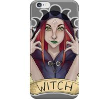 Witch with Crescent Moons iPhone Case/Skin