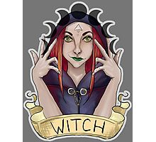 Witch with Crescent Moons Photographic Print