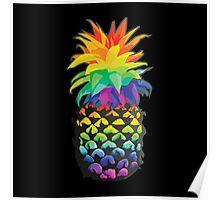 Pineapple Rainbow Fruit Poster
