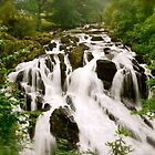 Swallow Falls North Wales by Julian Easten