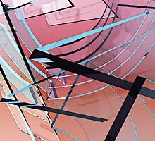 Transparent Planes Abstract One by Peter Sucy