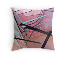 Transparent Planes Abstract One Throw Pillow