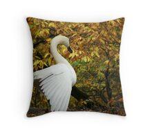 Autumn Swan Throw Pillow