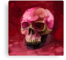 Amaranth Skull Canvas Print
