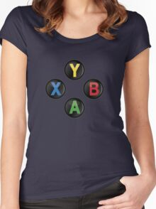Xbox One Buttons Women's Fitted Scoop T-Shirt