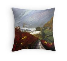 Towards Priest's Cove, Cape Cornwall Throw Pillow