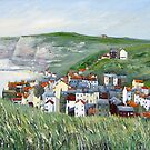 View from Cowbar, Staithes. by Sue Nichol