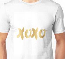 xoxo in faux gold Unisex T-Shirt