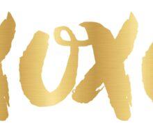 xoxo in faux gold Sticker