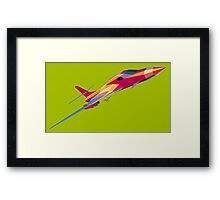 B-1B Lancer Psychedelic Green Diag Framed Print