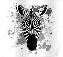 Splatter Stripes Poster