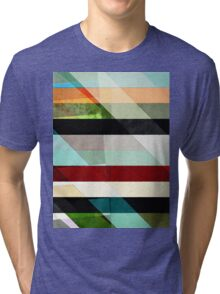 Colorful Textured Abstract Tri-blend T-Shirt