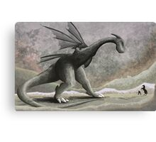 Hunting a troublesome dragon. Canvas Print