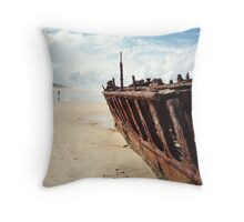 Rusting shipwreck Throw Pillow