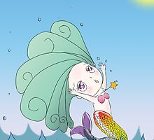 Breathe Again - cute mermaid illustration by dinkydivas
