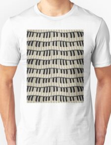 Rock And Roll Piano Keys Unisex T-Shirt