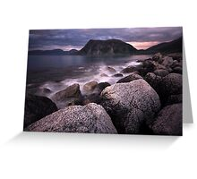 Late night in the north of Norway Greeting Card