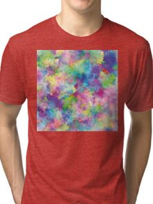 Abstract Patches of Color Tri-blend T-Shirt