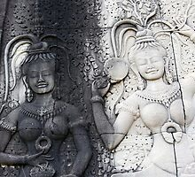 Apsara dancing girls by Tony Roddam