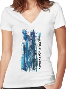 ART THERAPY Women's Fitted V-Neck T-Shirt