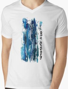 ART THERAPY Mens V-Neck T-Shirt