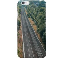 Long Ashton Bristol Railway lines leading into the distance. iPhone Case/Skin
