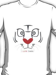 I Love Tigers T-Shirt