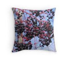 Elderberries Throw Pillow