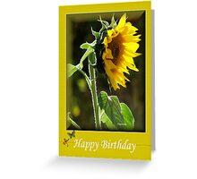 THE SUNFLOWER BIRTHDAY CARD Greeting Card