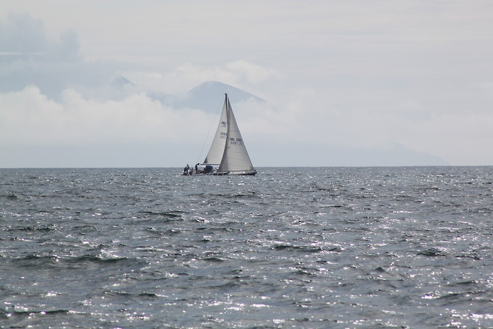 sailboat,kerry mountains in the background by Jean O'Callaghan