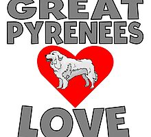 Great Pyrenees Love by GiftIdea