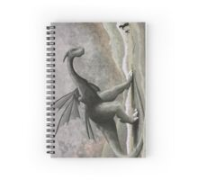 Hunting a troublesome dragon. (vertical) Spiral Notebook