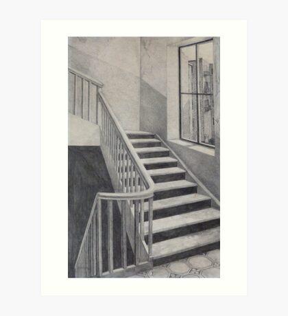 Empty Stairwell Art Print