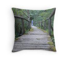 beaver pond trail Throw Pillow