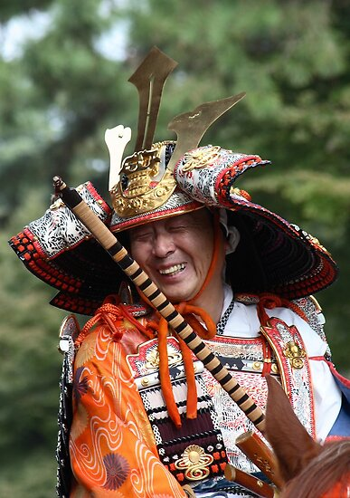 Laughing samurai by Tony Roddam