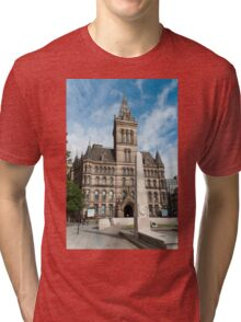 Manchester Town Hall East Facade  Tri-blend T-Shirt