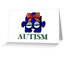 Autism Face Greeting Card