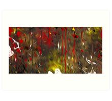 Abstract Colors Oil Painting #64 Art Print